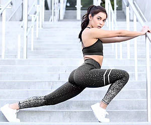 Лосины для фитнеса с качественным напылением
