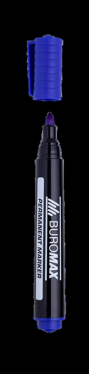 Маркер перманентний Buromax Jobmax 2-4 мм синій