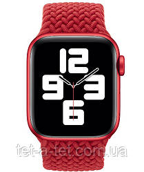 Ремінець (тканинний моно браслет) Braided Solo Loop для Apple Watch 42mm/44mm Red Size 6 (144 mm)