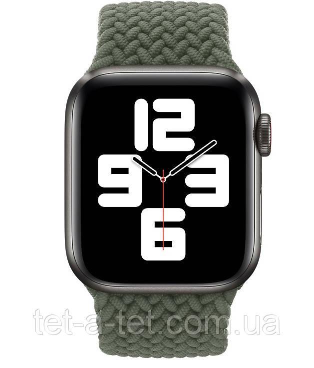 Ремінець (тканинний моно браслет) Braided Solo Loop для Apple Watch 42mm/44mm Inverness Green Size 6 (144 mm)