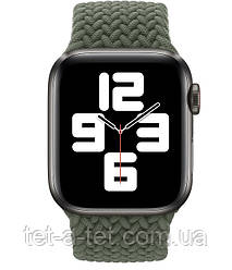 Ремешок (тканевый моно браслет) Braided Solo Loop для Apple Watch 42mm/44mm Inverness Green Size 6 (144 mm)