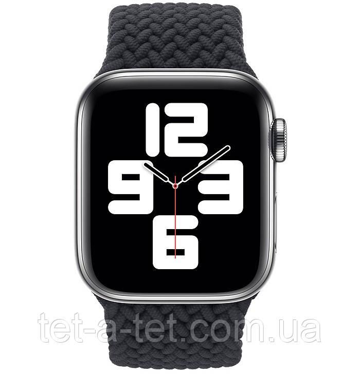 Ремешок (тканевый моно браслет) Braided Solo Loop для Apple Watch 42mm/44mm Charcoal Size 6 (144 mm)