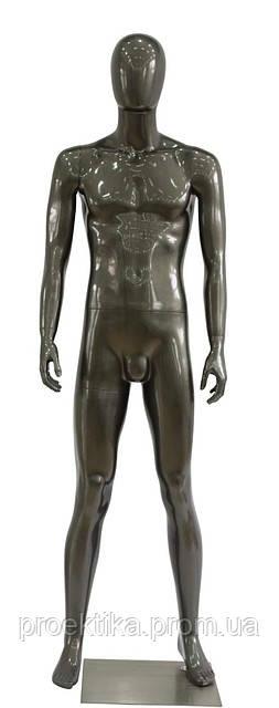 Манекен мужской безликий черный глянец