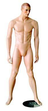 Манекен мужской телесный квадр. База