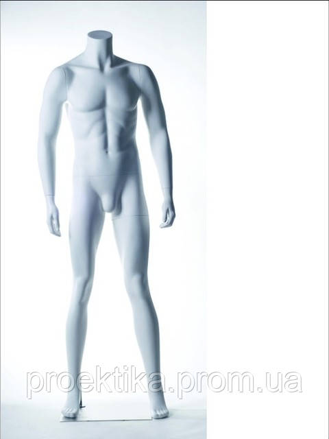 Манекен мужской белый без головы