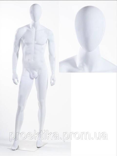 Манекен мужской безликий белый