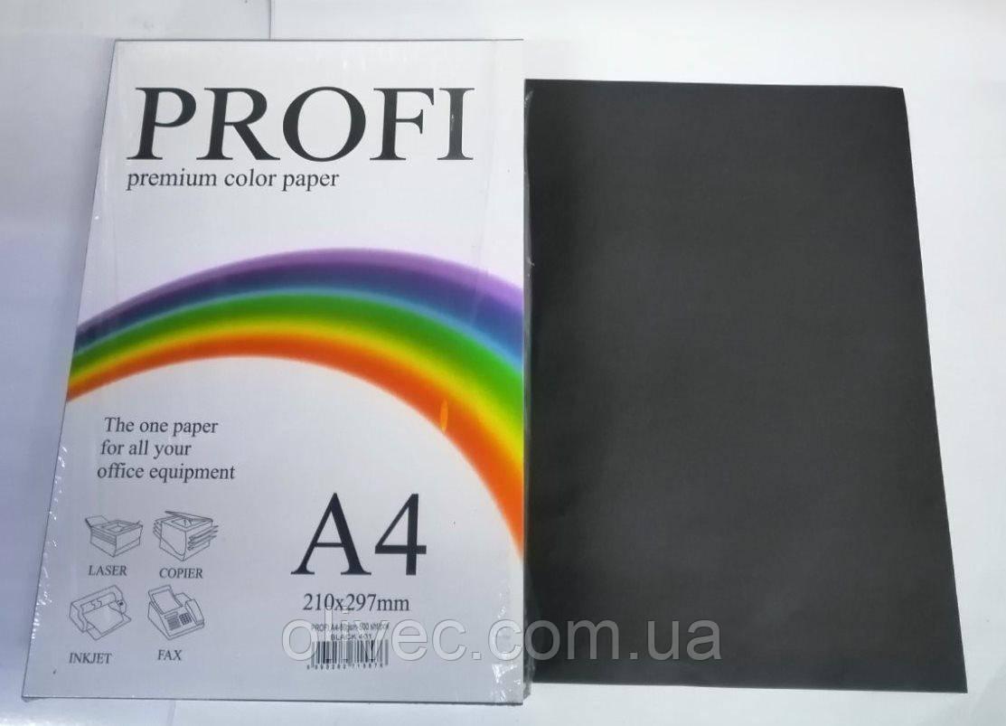 Бумага офисная черная двухсторонняя А4 Profi Deep BLACK