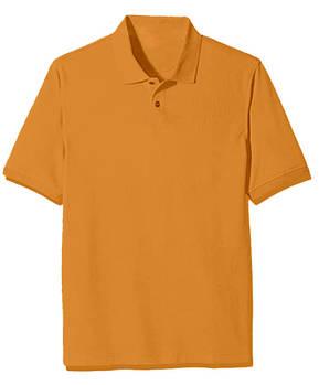 Футболка поло однотонна чоловіча, колір помаранчевий