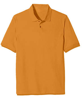 Футболка поло однотонная мужская, цвет оранжевый