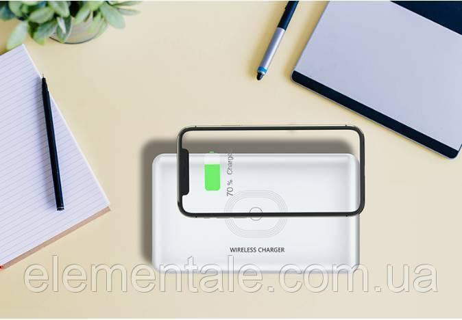 Портативний ультрафіолетовий стерилізатор UV з функцією бездротової зарядки LED 5V/2A Білий