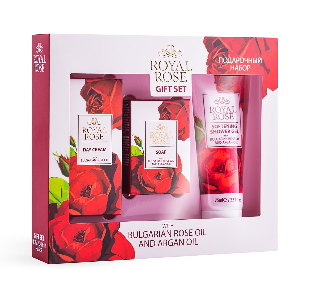 Подарунковий набір для жінок Royal Rosе від BioFresh (ДЕННИЙ КРЕМ, ГЕЛЬ ДЛЯ ДУША, МИЛО)