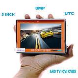 Видеотестер - портативный монитор для настройки видеокамер Pomiacam IV5, AHD TVI CVI CVBS 8 Мп, фото 3