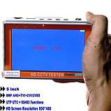 Видеотестер - портативный монитор для настройки видеокамер Pomiacam IV5, AHD TVI CVI CVBS 8 Мп, фото 4