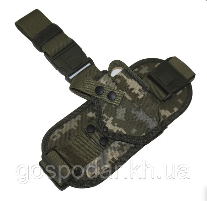 Кобура стегновий з платформою для пістолета Макарова ПМ з магазином Український піксель