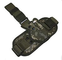 Кобура стегновий з платформою для пістолета Макарова ПМ з магазином Український піксель, фото 1