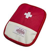 Кишенькова міська аптечка-органайзер для ліків (13х18 см) Червона, дорожня, з доставкою (GIPS)