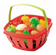 Оригинал.Детский игровой набор корзина фруктов и овощей Ecoiffier966
