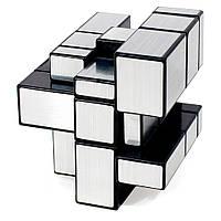 Серебряный Кубик Рубика с разными гранями 3x3, необычный зеркальный Кубик-Рубик, головоломка разновидность,