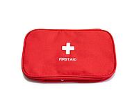 Домашня аптечка-органайзер для зберігання ліків і таблеток First Aid Pouch Large Червоний (GIPS)