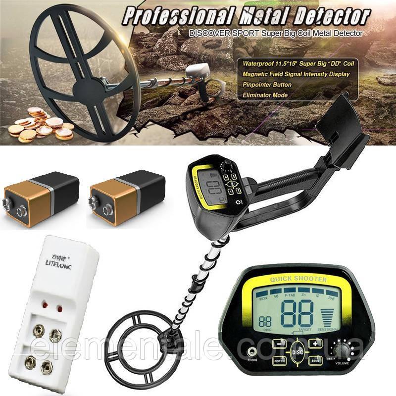 Металошукач Discovery Tracker MD-c 4060 акумуляторами та зарядним пристроєм
