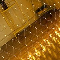 (GIPS), Новорічна світлодіодна гірлянда сітка на вікно (Xmas Net WW 180 LED теплий білий) ЛІД гірлянди на Новий Рік