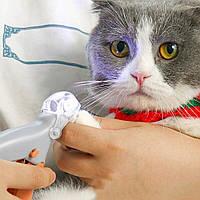 Когтерезка для котів і собак з підсвічуванням Pet comfy, ножиці для стрижки кігтів, когтерезкі (GIPS)
