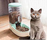 Розпродаж! Автоматична годівниця для тварин HipiDog, зелений, автогодівниця для кішок-собак   автокормушка