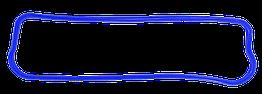 Прокладка крышки клапанной ЯМЗ-236 236-1003270