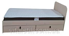 Кровать на металлокаркасе 2000*900 с выдвижными ящиками