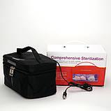Переносной детский стерилизатор для молокоотсосов, бутылочек, сосок UV UVC-LED Черный, фото 4