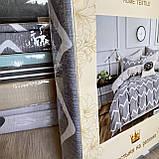 Евро комплект постельного белья 180*200+20см с простыню на резинке  Постельное белье с фланели евро размер, фото 2
