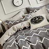 Евро комплект постельного белья 180*200+20см с простыню на резинке  Постельное белье с фланели евро размер, фото 4