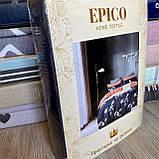 Євро комплект постільної білизни 180*200+20см з простирадлом на гумці Постільна білизна з фланелі євро розмір, фото 2