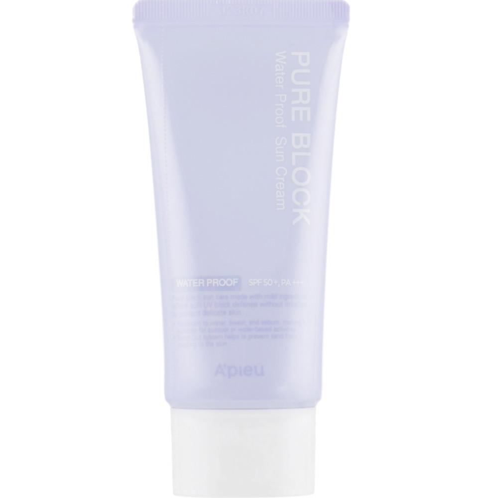 Солнцезащитный крем водостойкий A'Pieu Pure Block Natural Waterproof Sun Cream SPF50+/PA+++ 50 мл