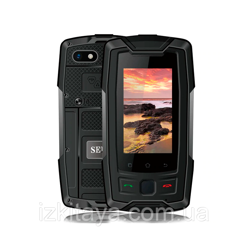 Смартфон Servo X7 Plus black IP68 NFC 2/16 Гб + стартовий пакет Sweet TV у подарунок