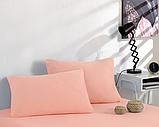 Простынь на резинке 200×220 трикотажная с наволочками 50х70 разные цвета Турция Kayra, фото 4