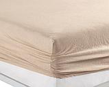 Простынь на резинке 200×220 трикотажная с наволочками 50х70 разные цвета Турция Kayra, фото 6
