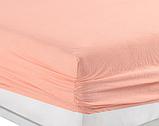 Простынь на резинке 200×220 трикотажная с наволочками 50х70 разные цвета Турция Kayra, фото 9