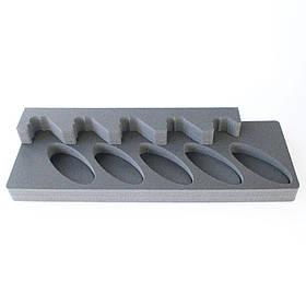 Комплект держатель ствола 5UGL + ложемент под приклад D5UGL на пять стволов (ружей) под углом