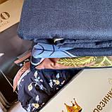 Евро комплект постельного белья 180*200+20см с простыню на резинке  Постельное белье с фланели евро размер, фото 6