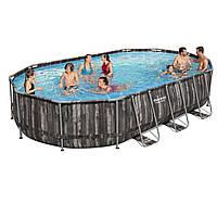 Каркасный бассейн Bestway овальный, 610 х 366 х 122 см, чаша+каркас, сборный