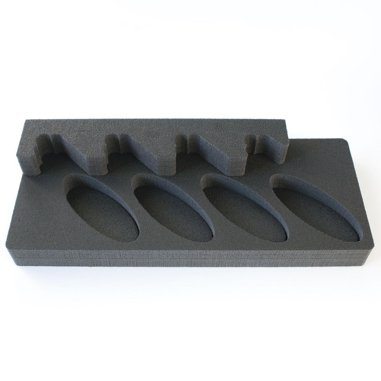 Комплект держатель ствола 4UGL + ложемент под приклад D4UGL на четыре ствола (ружья) под углом
