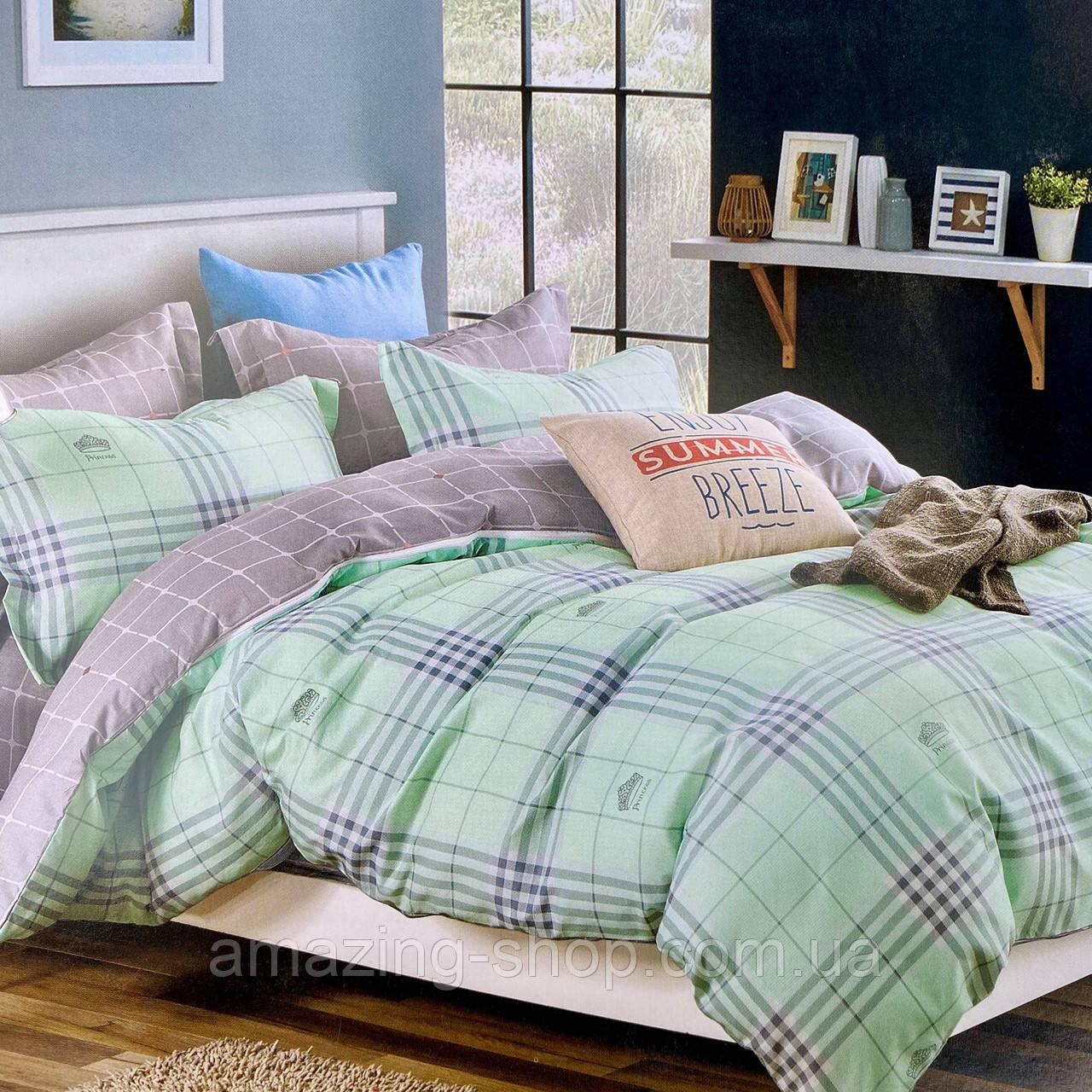 Евро комплект постельного белья 180*200+20см с простыню на резинке  Постельное белье с фланели евро размер