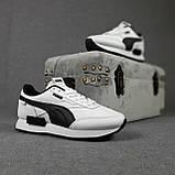 Жіночі кросівки в стилі Puma Future Rider білі з чорним, фото 8
