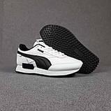 Жіночі кросівки в стилі Puma Future Rider білі з чорним, фото 9