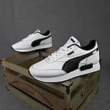 Жіночі кросівки в стилі Puma Future Rider білі з чорним, фото 10