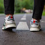 Мужские кроссовки Adidas Equipment Support (grey/white) Реплика ААА, фото 5