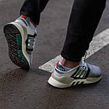 Мужские кроссовки Adidas Equipment Support (grey/white) Реплика ААА, фото 4