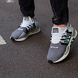 Мужские кроссовки Adidas Equipment Support (grey/white) Реплика ААА, фото 2