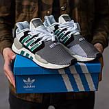 Мужские кроссовки Adidas Equipment Support (grey/white) Реплика ААА, фото 6